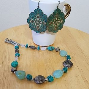 Jewelry - E. Necklace and Earrings Set